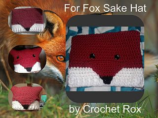 For Fox Sake hat pattern, 3-9-17 you will get a free copy of my Fox scarf pattern with purchase today!