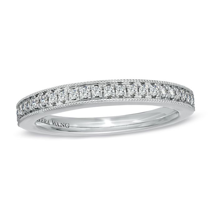 Zales Ladies 2.5mm Wedding Band in 14K White Gold R3Sju2E