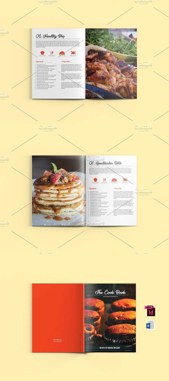 cook book template