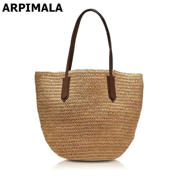 ARPIMALA 2017 Famous Brand Designer Beach Bag High Quality Women Bag for Vacation Women Travel Straw Handbag Shopper Purses Tote-in Top-Handle Bags from Luggage & Bags on Aliexpress.com | Alibaba Group