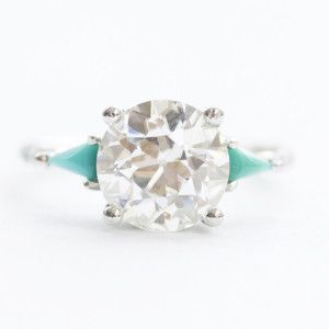 Looking For a Unique Ring For Your Spring Engagement? Drop a Hint With  These 58 Picks. Turquoise Wedding RingsTurquoise Diamond ...