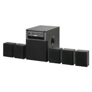RCA RT151 Home Theater System with Mini Tool Box (cog) by RCA. $209.99. You'll enjoy the deep bass and full sound of your music being played on the RT151 five-speaker home theater system by RCA. The 80 Watt surround sound system is compatible with DVD/CD players, computer and game consoles, satellite and cable boxes, and several TVs that have an audio output. Connect your iPod and other portable audio players using the line-in audio jack located in the front of...