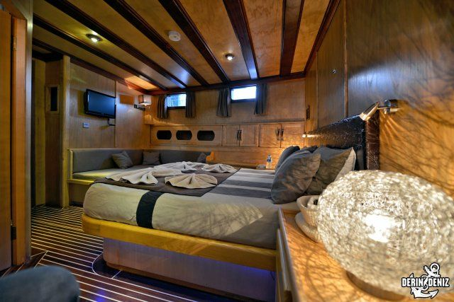 Luxury all around, the Derin Deniz is a modern yacht designed to make your trip pure pleasure. Fully air conditioned, the inside living space is worth the best five stars hotel. All equipments are issued from the latest technologies. Luxury Gulet cruise o,  Inside boat -  Inside Boat -  Wooden Luxury Grand Salon, gulet cruises turkey, gullet cruises turkey, luxury gulet, luxury gullet, gulet cruises, gullet cruises, gulet holidays, gullet holidays, goulette, goulettes, gulets, gullets…
