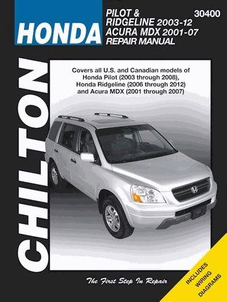 Honda Pilot & Ridgeline 2003-2014, Acura MDX 2001-2007 ...
