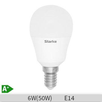 Bec LED Starke Blue forma lustra, 6W, P45, E14, 6500K, lumina rece