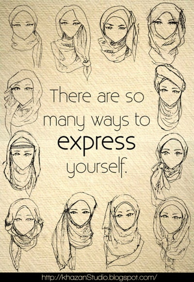 other hijab style --- This picture is so pretty.