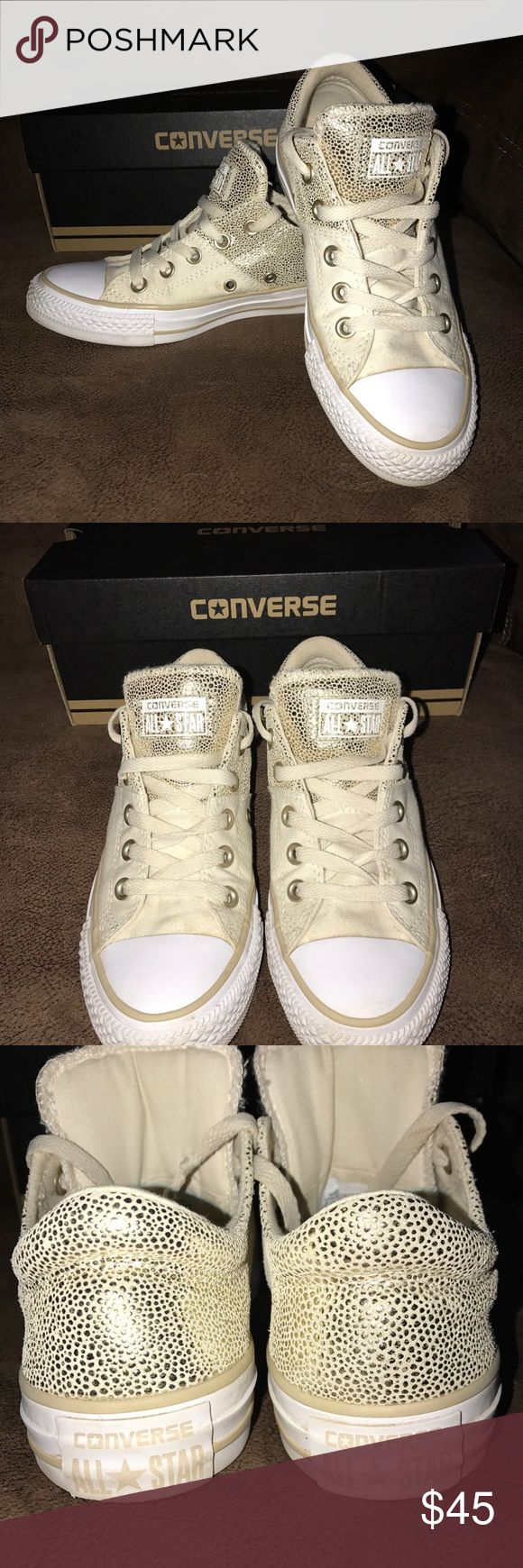Ladies Converse Shoes In EUC a pair of Ladies Converse Shoes. My daughter wore them twice and they hurt her feet. I paid $60 for them so ur getting a steal!! They are size 6 in Ladies. Converse Shoes Sneakers