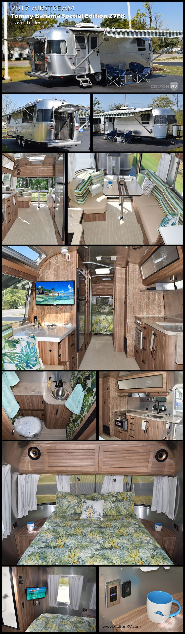 Two free spirited iconic american brands airstream and tommy bahama join together to create this elegant special edition travel trailer
