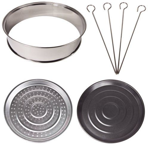 Halogen Oven Accessories includes extender ring, baking and steamer trays and skewers, suitable for any 10-12 litre Halogen Oven Andrew James http://www.amazon.co.uk/dp/B0030ITYOM/ref=cm_sw_r_pi_dp_YyYRtb06EF9JNA6E £9.95 for the set from Amazon.co.uk
