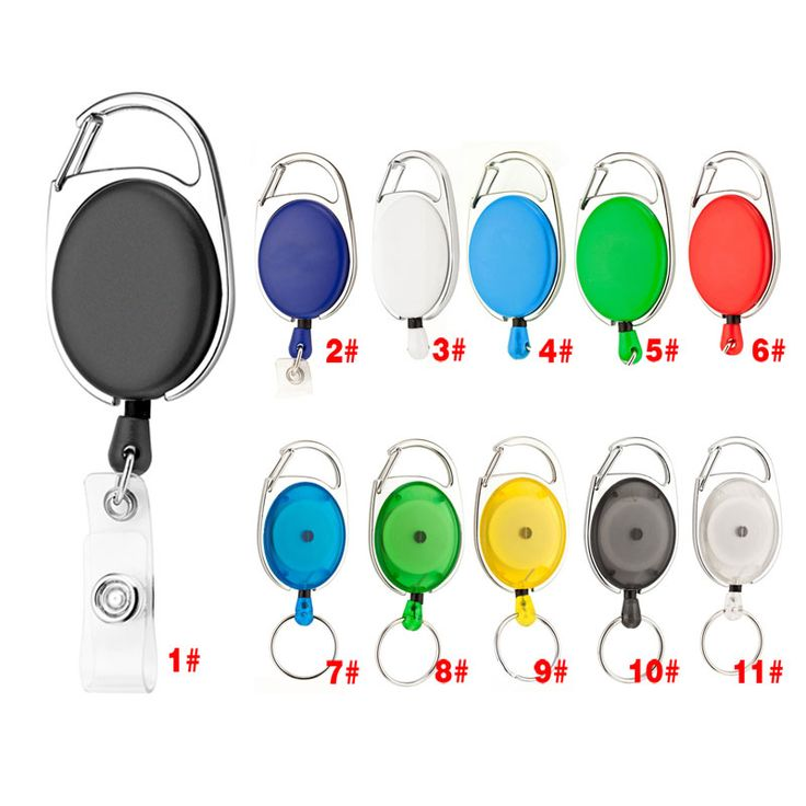 Rozwijany Ciągnąć Brelok Smycz ID Odznaka Nazwa Posiadacza Karty Tag Zaczep na pasek Key Ring Łańcuch Klamra