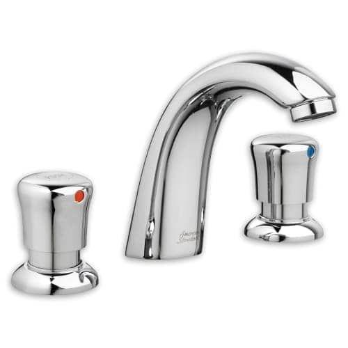 American Standard 1340.827 Pillar Tap Widespread Metering Faucet, Silver stainless steel