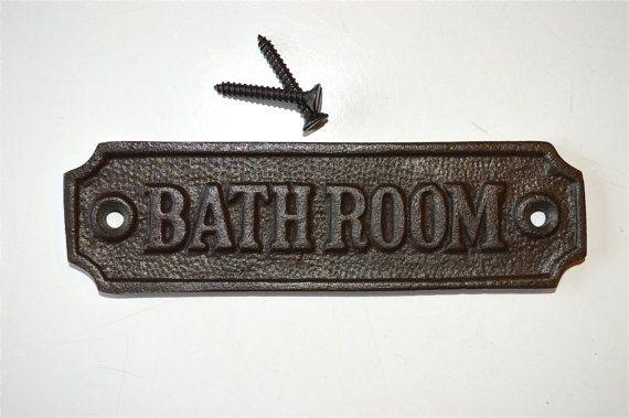 Antieke stijl gietijzer badkamer deur teken door mjknobsandknockers