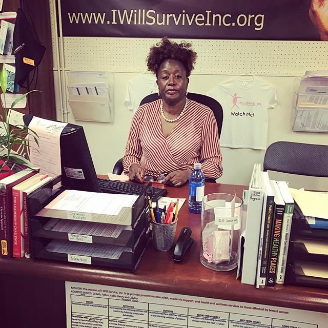 Volunteer of the Quarter!!! Meet Ms. Gwendolyn. She is a throat cancer survivor and from New York. She volunteers in the office 16 hours every week!!! We love our volunteers! 💚 #volunteersrock #iwillsurviveinc seeking more help in the office even if only one day a week. Visit the web to complete a volunteer application. Call us at 404-483-8503 or email us at Contact@IWillSurviveInc.org #volunteer #volunteering #volunteeringisfun #volunteeringiscool 🙌