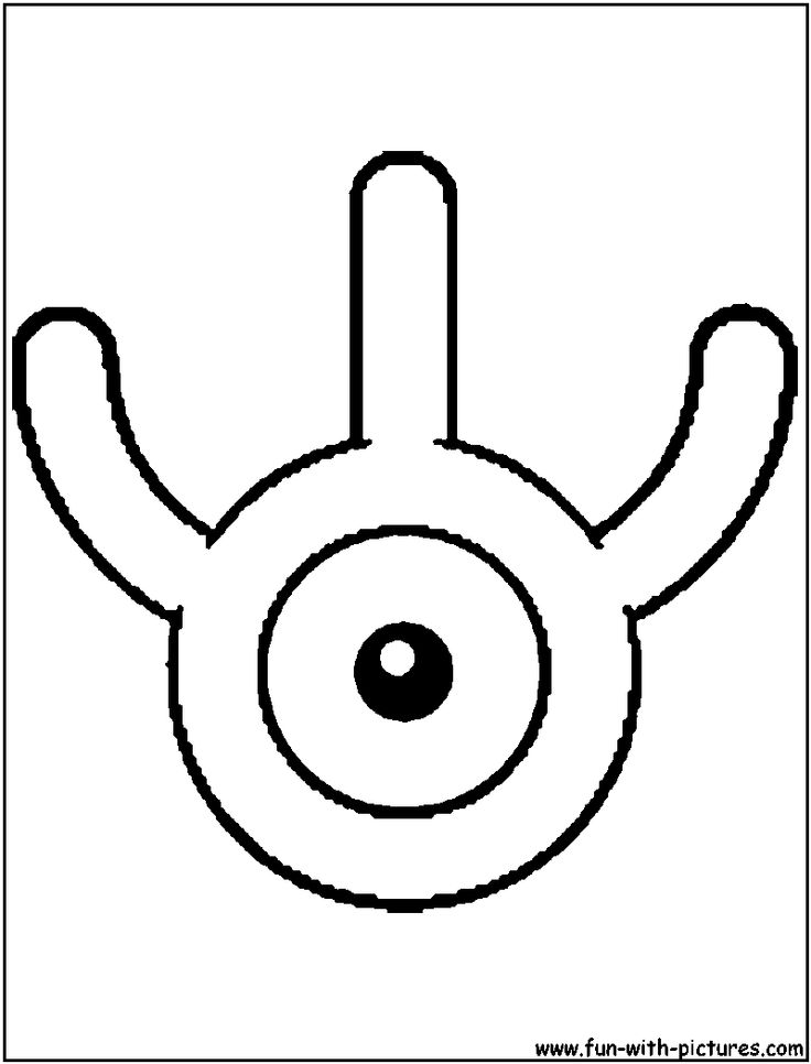 Unown W Coloring Page Alphabet W Pokemon coloring
