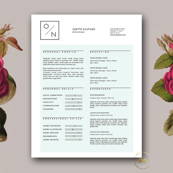 1000 ideas about resume templates for word on pinterest curriculum creative cv and cover