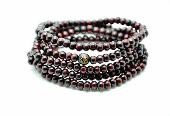 chocolate wood beads women beads bracelet men by braceletcool, $5.50