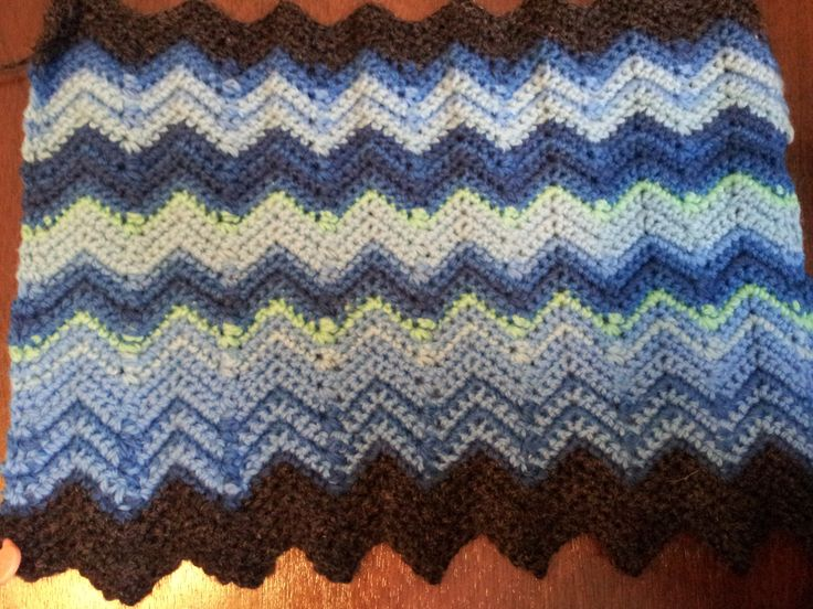 Ripple Stitch Knitting Pattern Scarf : 17 Best images about Haken: Temperature blanket / temperatuur deken on Pinter...