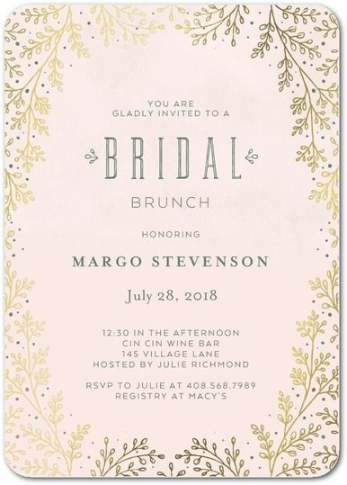 Wedding Paper Divas Bridal Shower Invites Botanical Luster Coupon Codes For