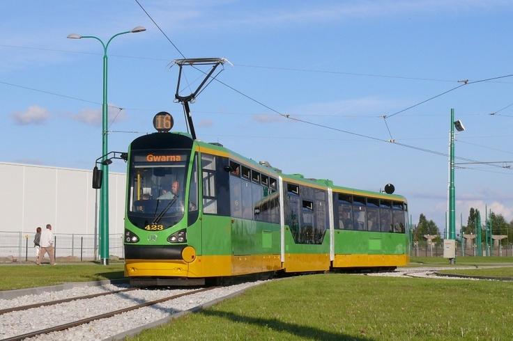 Poznań, tramwaj Modertrans Moderus Beta #423 - #Poznan, #tramwaj, #tram