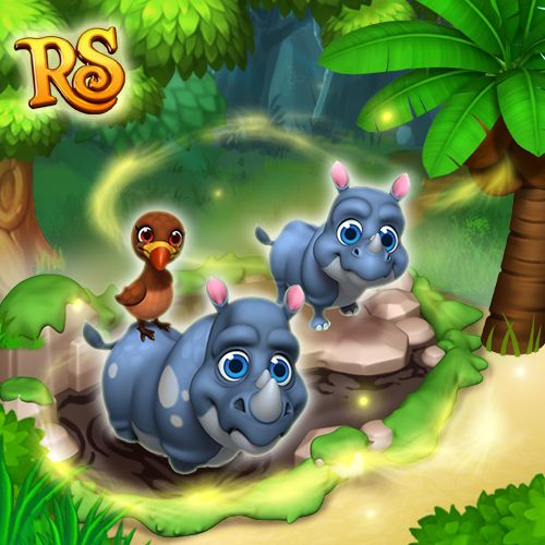 Black Rhinos joined the Royal Story ZOO Crew! Give them a warm welcome! <3  #royalstorygame #royalzoo