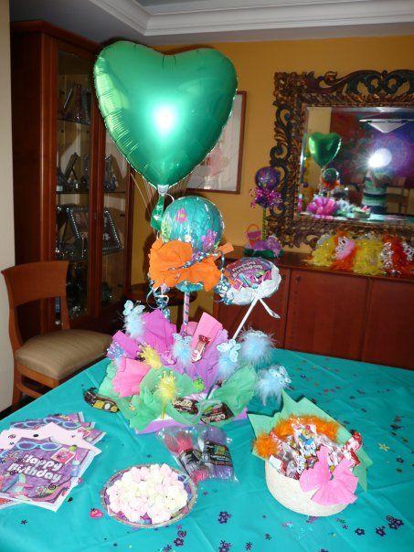 Centro de mesa para cumpleaños Motivo: Corazón