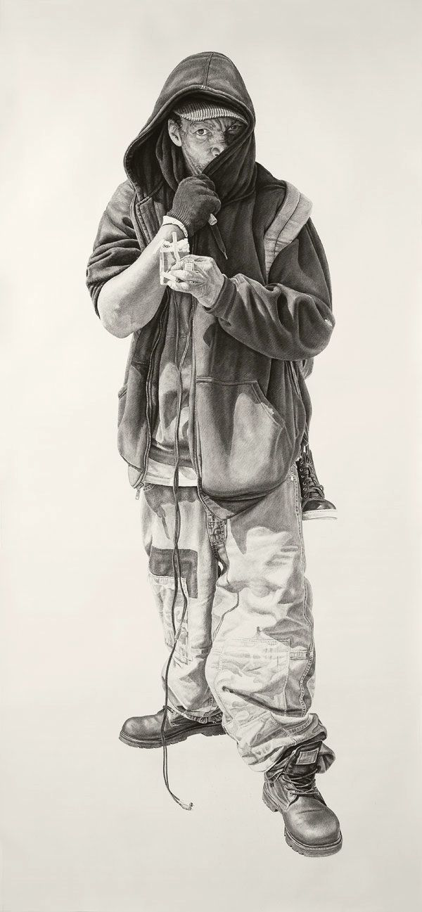 """""""No Regrets In Life"""" – Charcoal and Graphite Drawings by Artist Joel Daniel Phillips"""