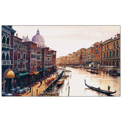 "Trademark Fine Art ""Venice"" by Hava Painting Print on Wrapped Canvas"
