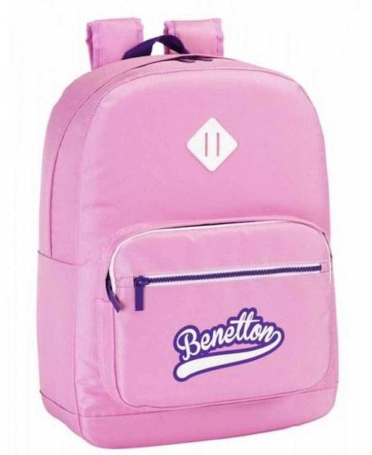 Mochila Benetton rosa ( adaptable a carro)