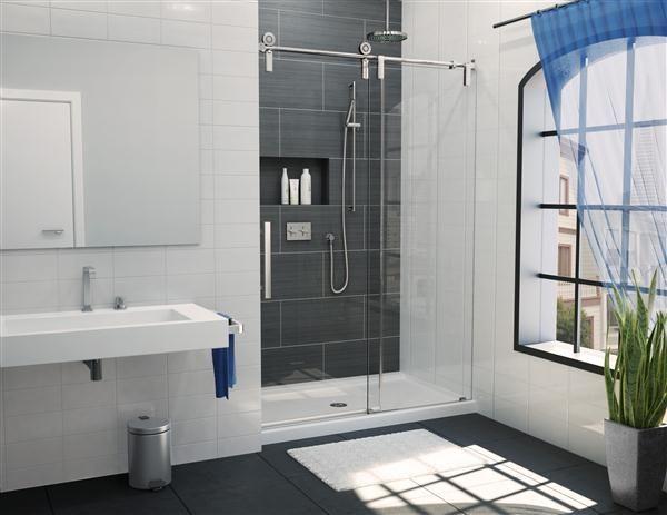 fleurco glass shower doors kinetik ks in line shower door rail system
