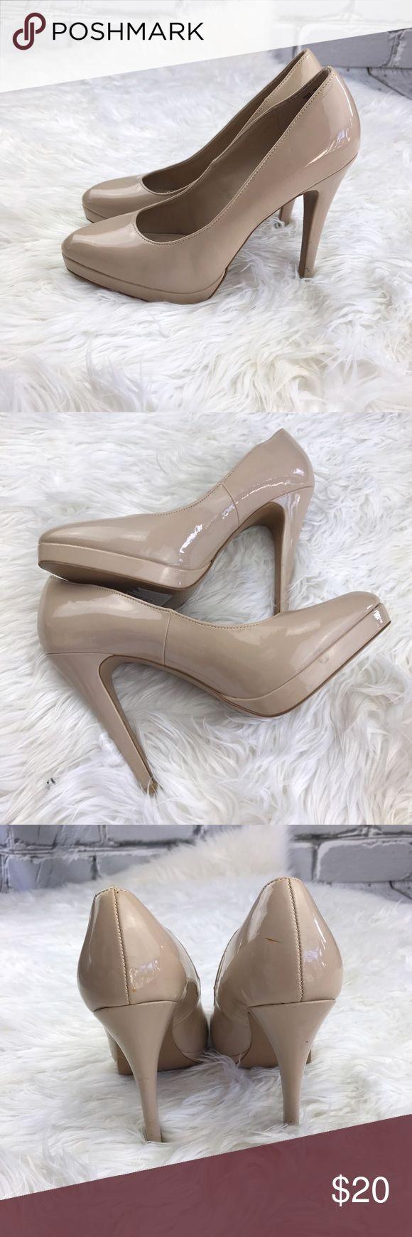 "SALE ELLE Taupe Patten 5"" Heels Fantastic  ELLE Taupe 5"" Patten Heels Elle Shoes Heels"