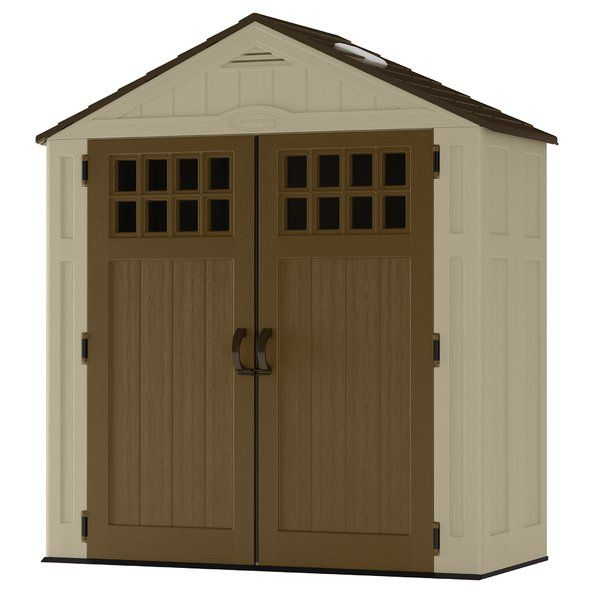 You have storage demands, let the Suncast Everett™ Shed be the solution! With a 94 cubic ft. capacity, and a 14 ft. square footprint, this shed is capable of serious storage with a minimal footprint. Skylights and door windows allow natural light to illuminate the shed for easy navigation. Constructed of durable double-wall resin, this shed is easy to maintain and will not rust, rot, or dent. The metal-reinforced shingle-style roof combines style and durability. Suncast sheds come with a…