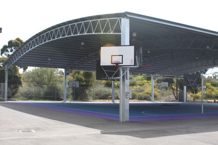 Structural steel covered sports areas for schools or public convention centers