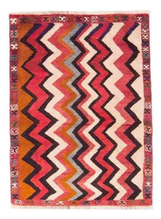 Loribaft Gabbeh  Teppich  Modern Handgeknüpft rug  138 x 84 cm orient mattan