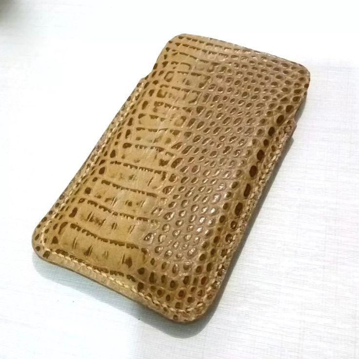 capa case iphone 6 / 7 couro de jacaré - promoção