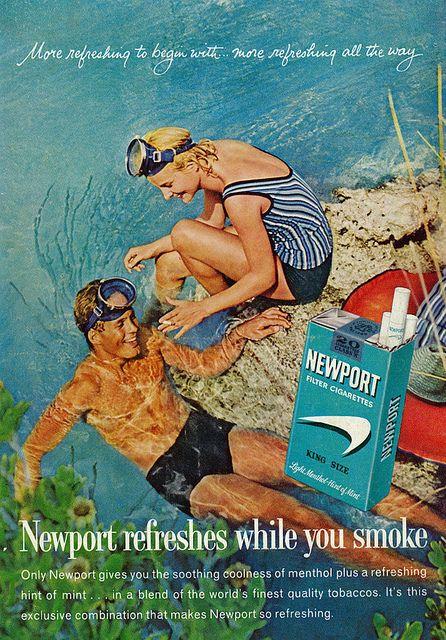 1962 Newport Filter Cigarettes Ad, Ocean Swimming   Flickr - Photo Sharing!