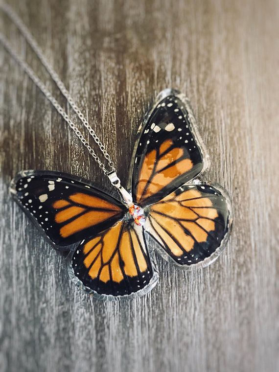 bf18c6303 Preserved butterfly, butterfly wing jewelry, real monarch butterfly,  entomology, butterfly, boho style, wedding gift, wedding jewelry | Earth  Jewelry ...