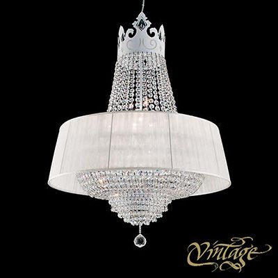 Vintage Crown La Chandelier, a stylish lighting with a French crown top and glittering glass drop suspension available at http://www.metropolitandecor.com/Vintage-Crown-LA-Chandelier-MD.html