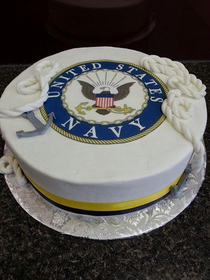 U S Navy Cake Custom Cakes Pinterest Kakor Och