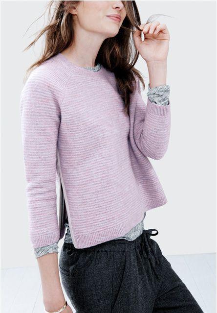 J. Crew lambswool zip sweater