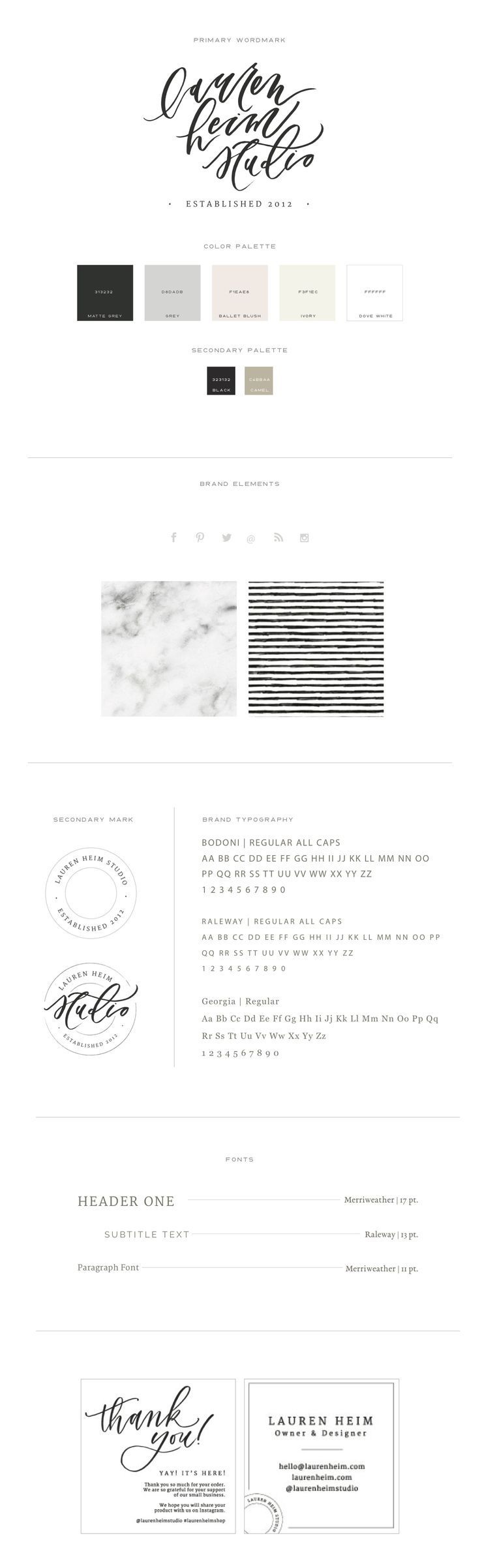 Branding for Lauren Heim | Branding and Web Design for Women in Business by With Grace and Gold