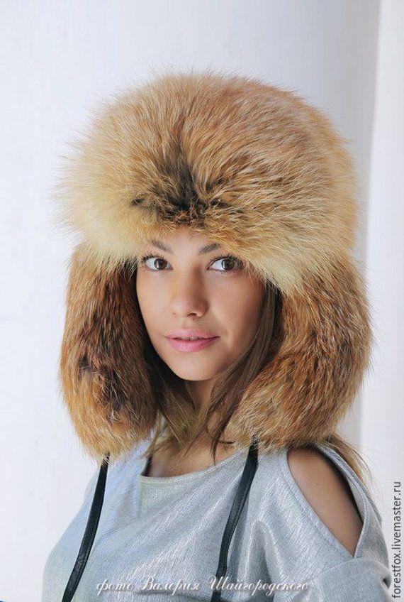 40426a01d32 Real fox fur fur hat