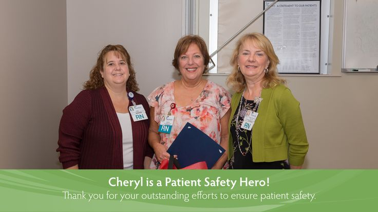 Congratulations to Cheryl, a recipient of our Patient Safety Hero Award!  Patient safety is a top priority at Frederick Memorial Hospital, and Cheryl's concern for her patients and consistent efforts to assure patient safety, demonstrate her commitment to patient safety at Frederick Memorial Hospital. Thank you for all that you do to improve the lives of our patients, their families, and our Frederick Memorial Hospital Team!
