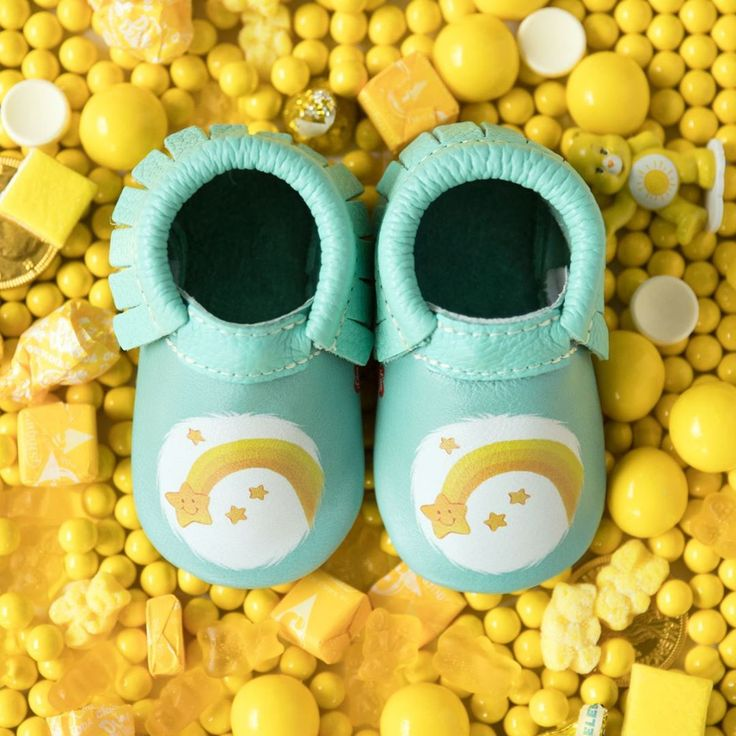 Freshly Picked Baby Moccasins | If you see a shooting star tonight, save your wish for these babies to show up at your door!