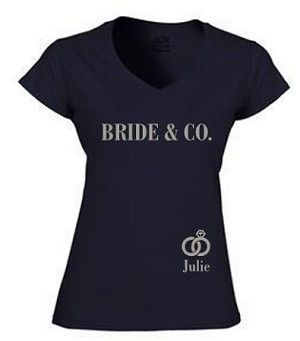 BRIDE & CO. V-NECK BACHELORETTE PARTY T-SHIRT