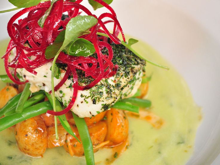 Become ocean-wise about the fish you cook: Recipe for poached halibut with beet topping