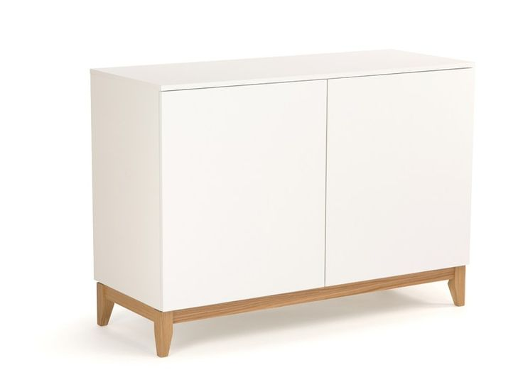 LACQUERED WOODEN SIDEBOARD WITH DOORS BLANCO | SIDEBOARD | WOODMAN