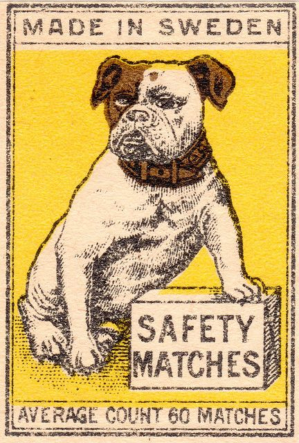 Swedish Safety matches #vintage #matchbook #matches | repined by www.amgdesign.nz