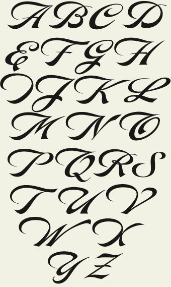 Worksheets A To Z Stylish Font Style 1000 images about fonts on pinterest typography and alphabet this beautiful calligraphic style set from sign artist dave correll is sure to become your new favorite you receive 2 r