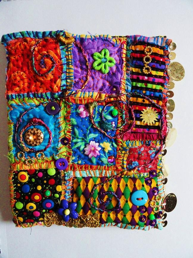 colourful crazy quilt
