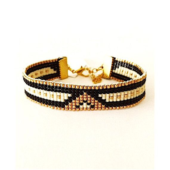 Bead loom bracelet Romantic Night - friendship bracelet, beaded bracelet, miyuki bracelet, bead bracelet Stylish, made of Miyuki beads in